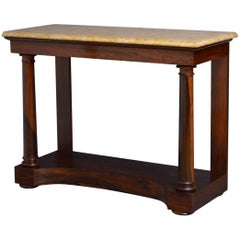 English Regency Console Table in Rosewood