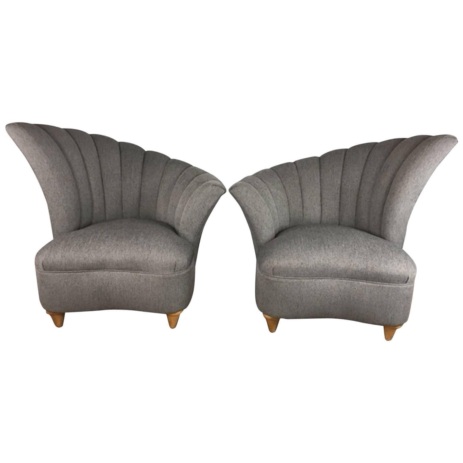 Vladimir Kagan Nautilus Club Chair, Pair 1
