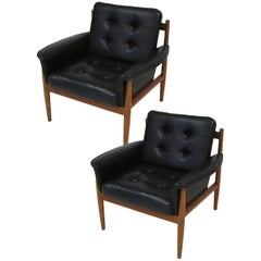 1960s Teak Lounge Chairs by Grete Jalk for France & Son, Denmark