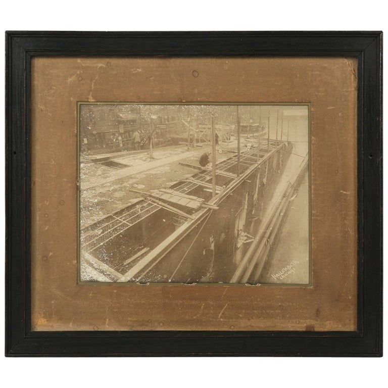 Eastland Disaster in the Chicago River, circa 1915 Original Photograph