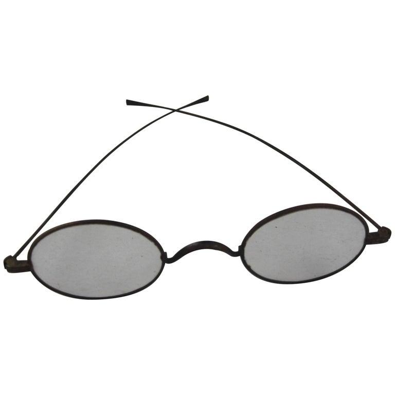 Historical American Civil War Era Wire Frame Eye Glasses or ...