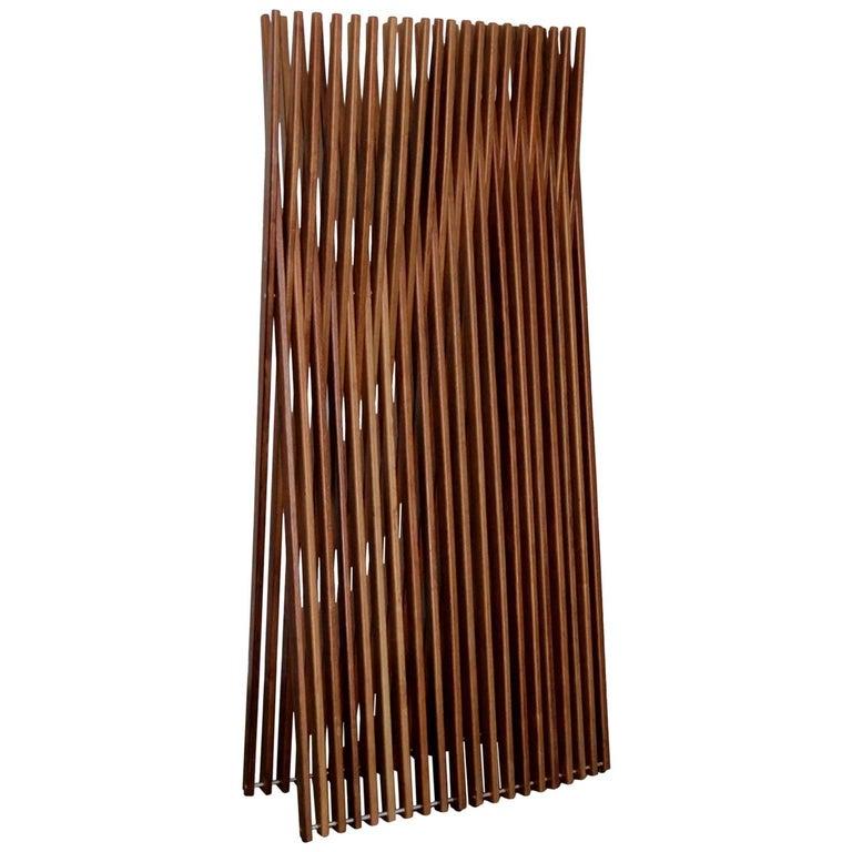 Brazilian Contemporary Design Conogó Sucupira Solid Wood Screen Partition
