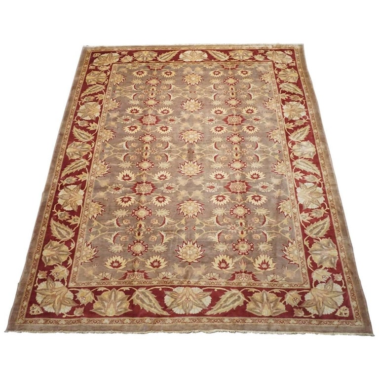 Light Brown Oushak Area Rug For Sale At 1stdibs
