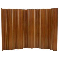 Rare Ten-Panel Eames Folding Screen 'FSW-10' in Teak