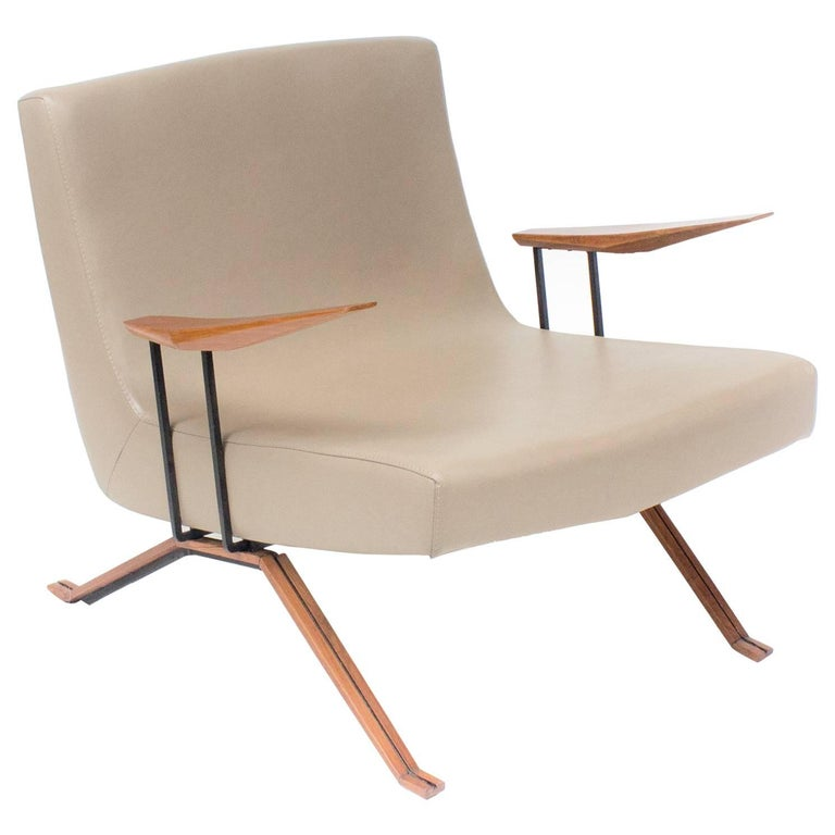 MP-1 Armchair Midcentury Brazilian Style by Percival Lafer, 1961