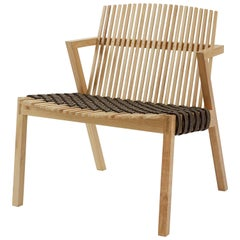 Contemporary Armchair in Tropical Brazilian Hardwood, Rahyja Afrange