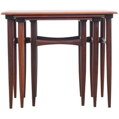 Mid-Century Modern Scandinavian Nesting Tables in Rosewood by Poul Hundevad