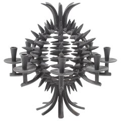 Wrought Iron Pineapple Candleholder by JHQ