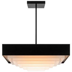 Dimorestudio Lampada 050 Matte Black Painted Metal Light Chandelier Pendant