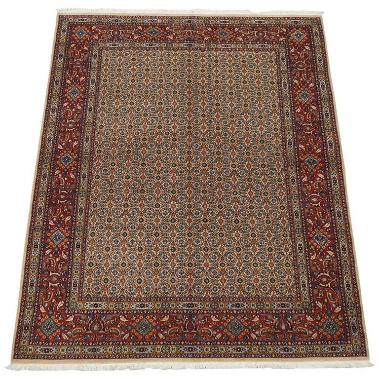 1970s Fine Persian Herati Mood Area Rug For Sale At 1stdibs