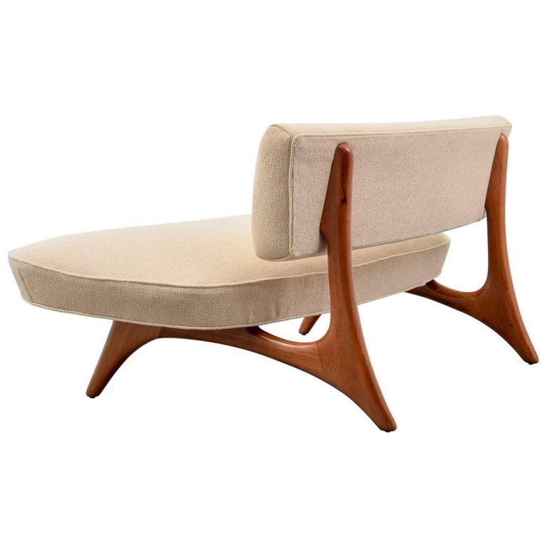 """Curved Floating Sofa: Rare And Early Vladimir Kagan """"Floating Curve"""" Loveseat Or"""