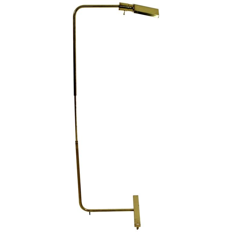 Vintage Mid-Century Modern Cedric Hartman Adjustable Brass Floor Lamp, 1960s