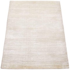 Modern Bamboo Silk and Wool Rug