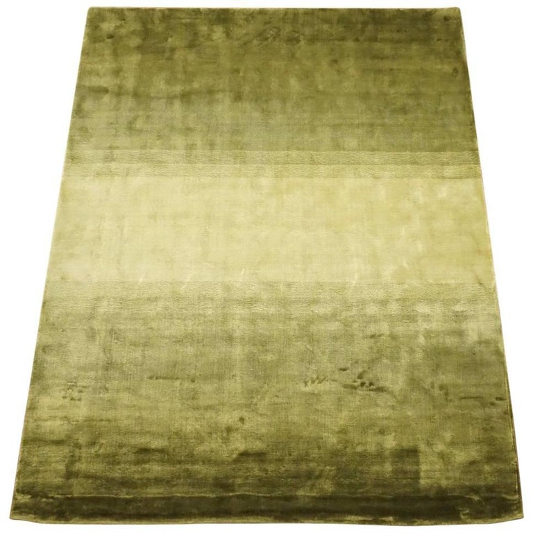 Green Contemporary Bamboo Silk Rug For Sale At 1stdibs