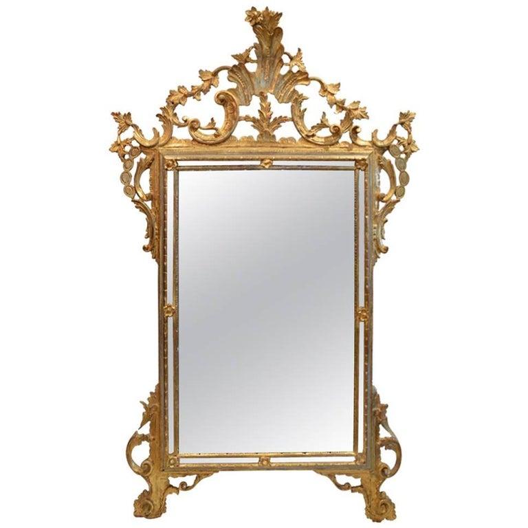 Gilt Louis XV Style Mirror