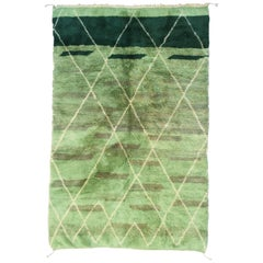 Moroccan Hand-Knotted Rug from Middle Atlas, Contemporary