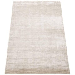 Solid Contemporary Bamboo Silk Area Rug