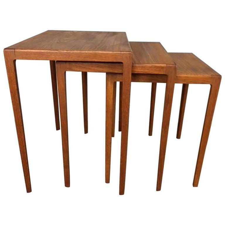 Eske Kristensen Set of Three Teak Nesting Side Tables