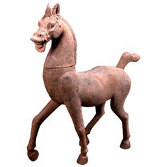 Monumental Han Dynasty Complete Pottery Horse