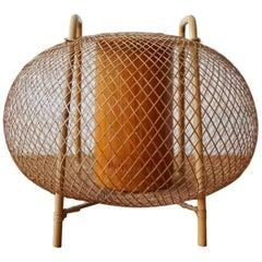 Japanese Bamboo Ikebana Vase Signed