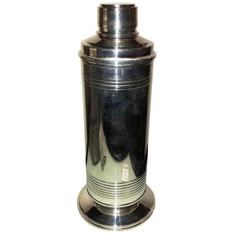 English Art Deco Cocktail Shaker, 1930s
