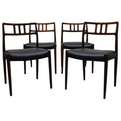 Niels Otto Moller Set of Four Rosewood Model 79 Dining Chairs