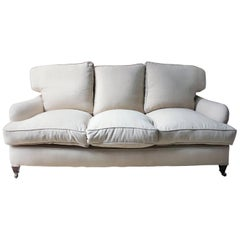 Upholstered Victorian Three-Seat Sofa in the Manner of Howard & Sons, circa 1890