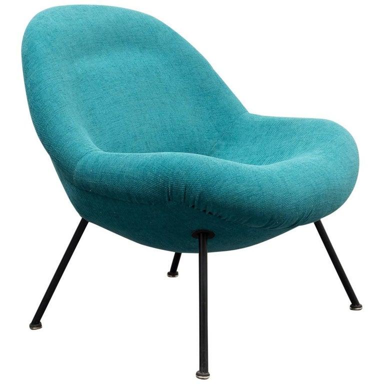fritz neth kugelsessel correcta neu gepolstert at 1stdibs. Black Bedroom Furniture Sets. Home Design Ideas