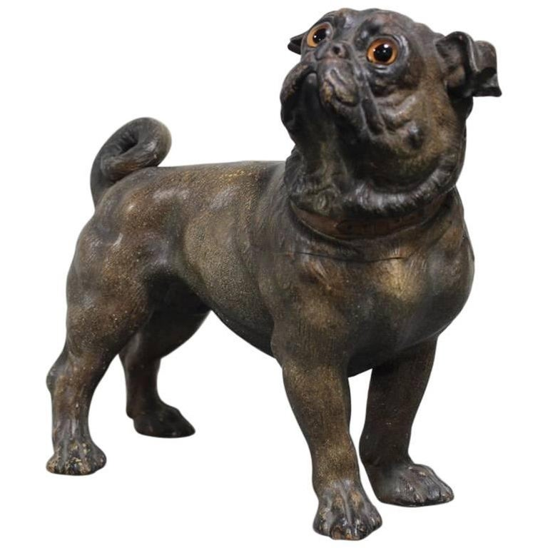 French Early 20th Century Painted Terracotta