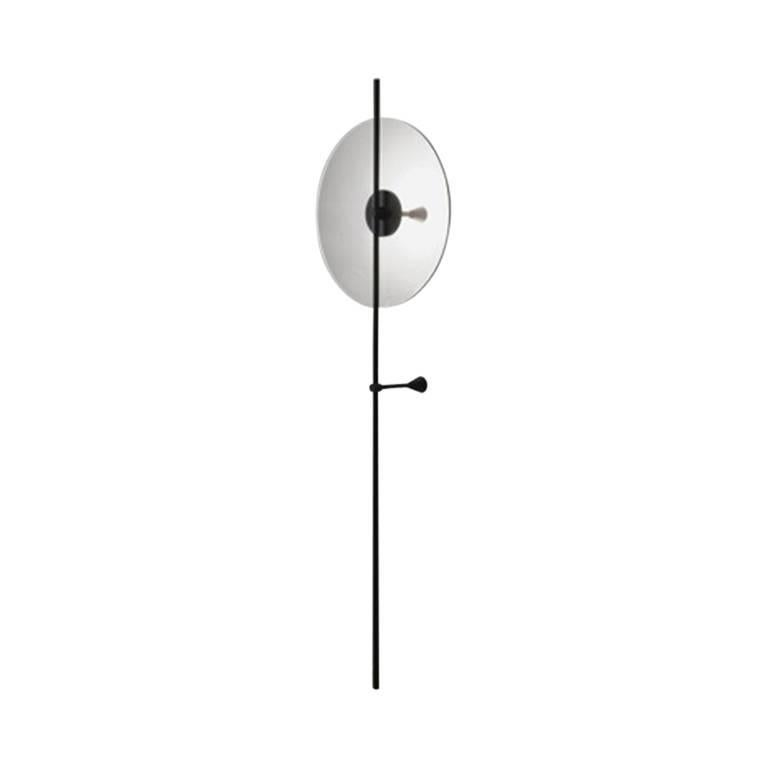 Contemporary Secant Freestanding Desk Lamp in Glass and Aluminum For Sale