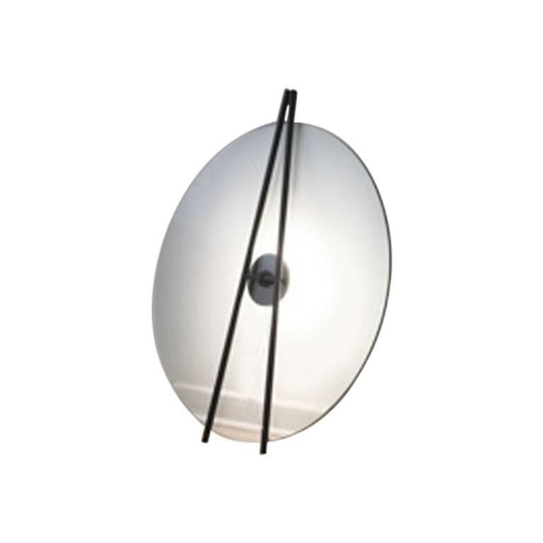 Contemporary Secant Floor Light in Glass And Aluminum by Daniel Rybakken