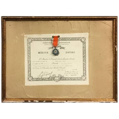 Order of Societal Merit 1948, France with Authentic Medal