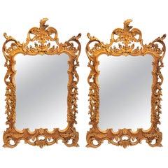 Pair of Italian Labarge Rococo Gilt Mirrors