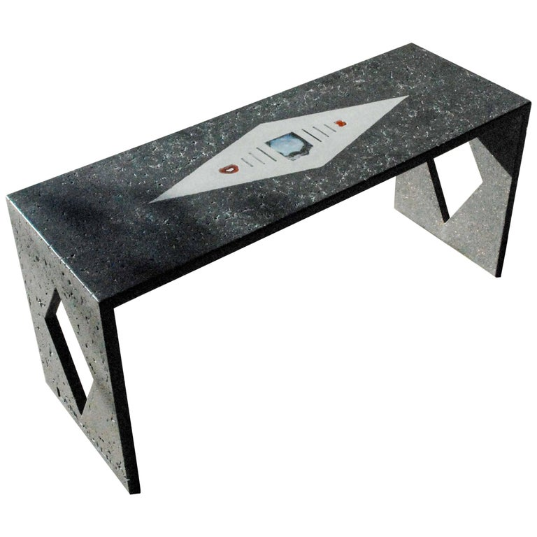 Contemporary Custom Concrete Bench For Sale At 1stdibs