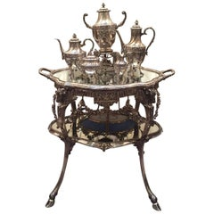 German Silver Five-Piece Tea Set