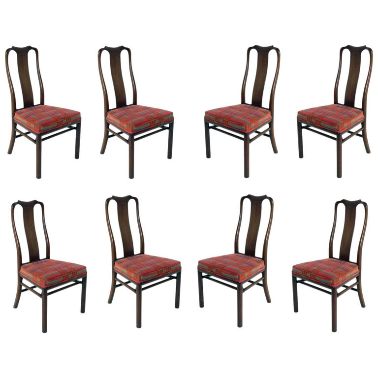 Set of Eight Dining Chairs by Michael Taylor for Baker