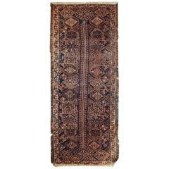 Handmade Antique Afghan Baluch Rug, 1900s