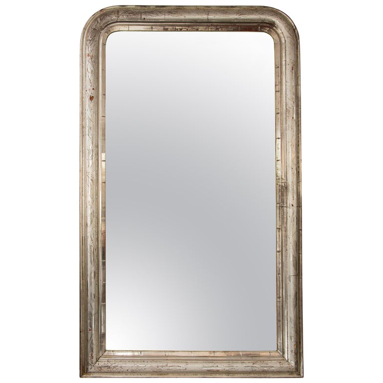 Patined Silver Leaf Mirror