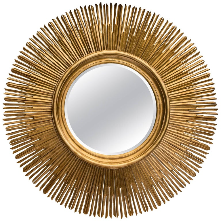 Exceptional Large Giltwood Mirror