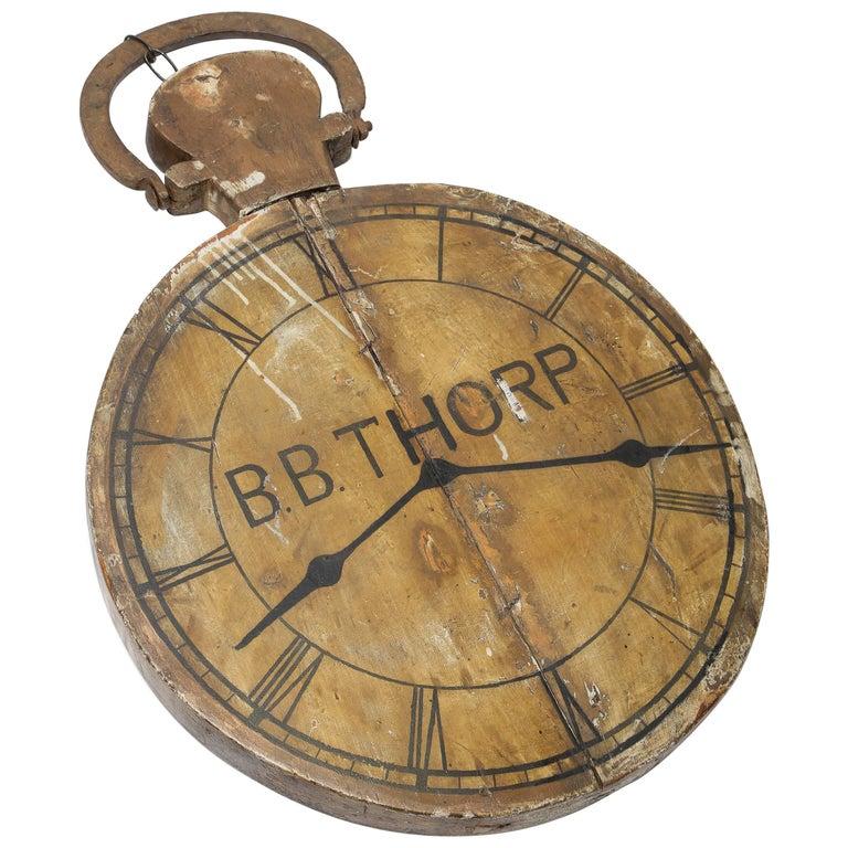Antique Clock Advertising Sign