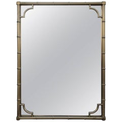 Solid Brass Faux Bamboo Wall Mirror