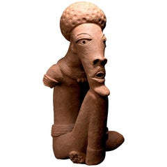 Nok Terracotta Figure of Seated Man, Nigeria, Africa TL Tested