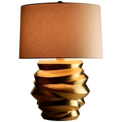 Jie Jarlet Lamp, 24 Karat Gold Plate by Robert Kuo, Limited Edition