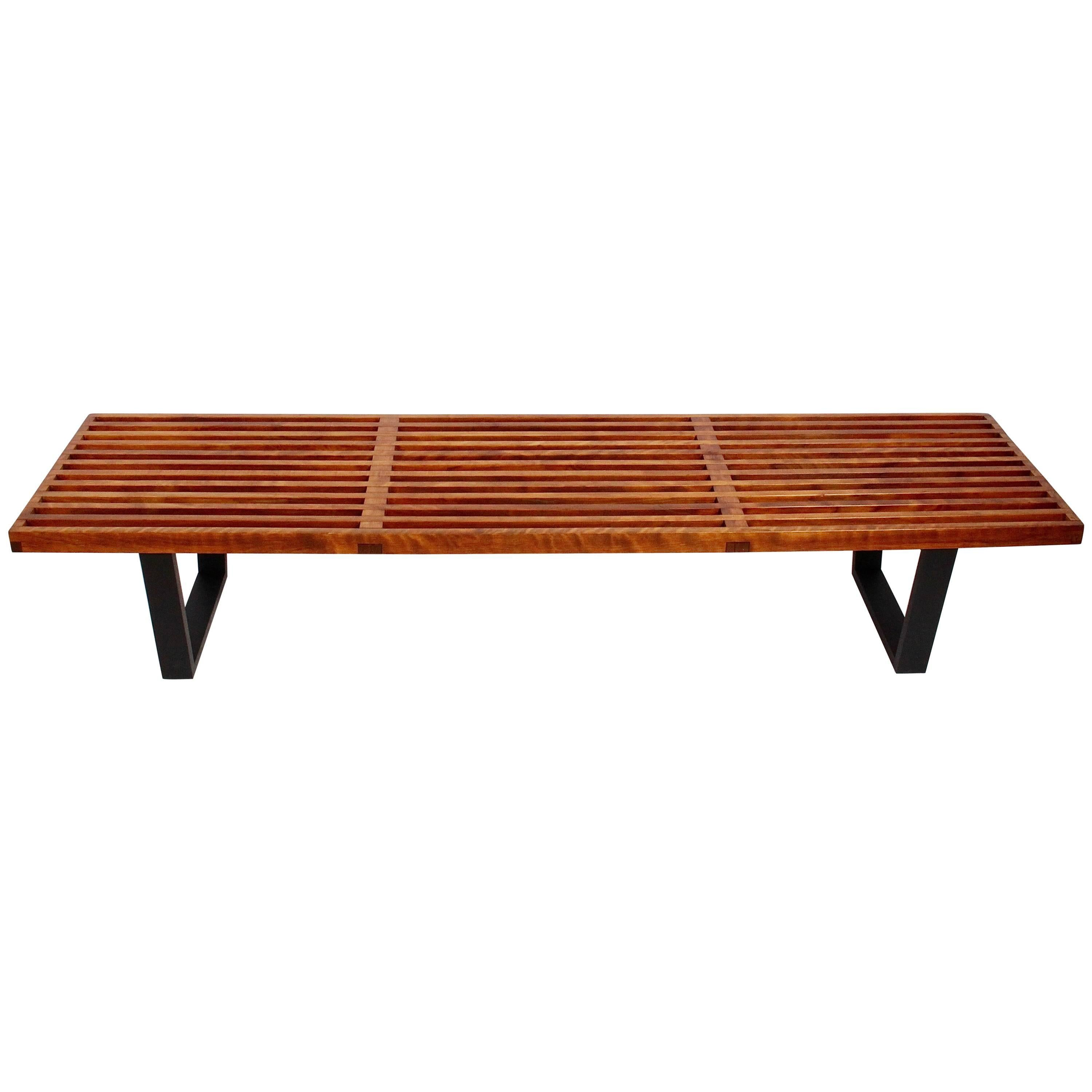 George Nelson For Herman Miller Maple Six Foot Bench Coffee Table, Circa  1960s