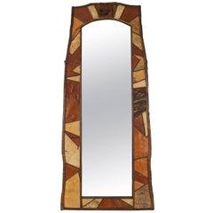 Rustic Adirondack Tall Vertical Wall Mirror