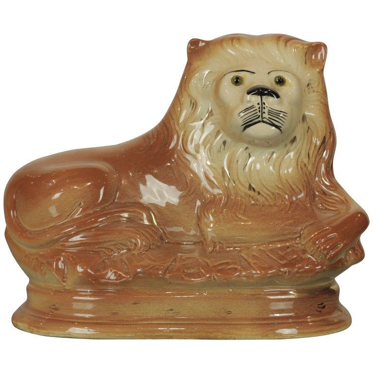 Staffordshire Lion For Sale
