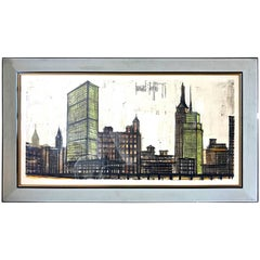 "Bernard Buffet ""Skyline New York"" original, 1958"