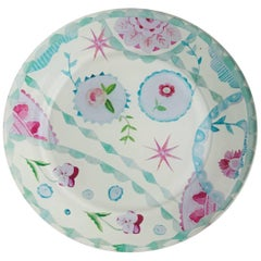 Cathy Graham Decoupage Floral Plate