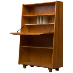 Cees Braakman for Pastoe Birch Desk-Bookshelf