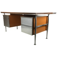 Iconic Modernist Executive Desk by Welton Becket